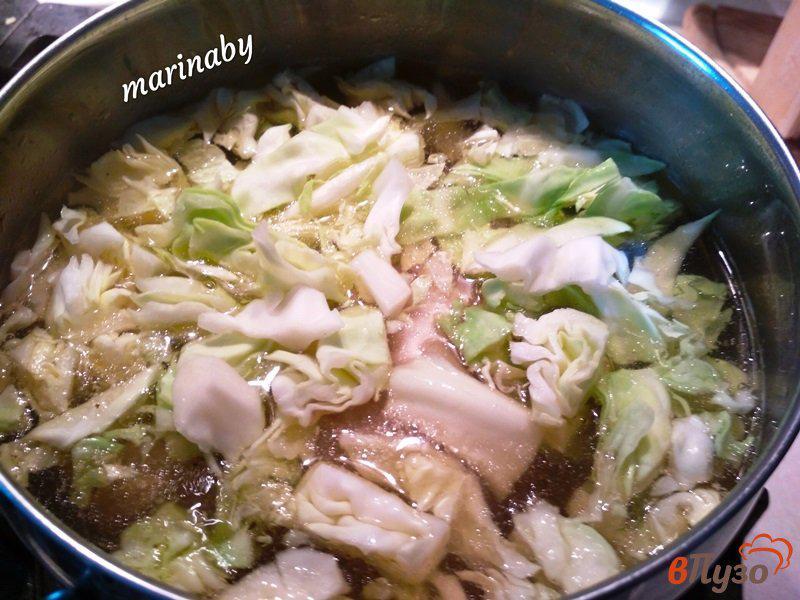 Фото приготовление рецепта: Щи из свежей капусты с курицей шаг №4