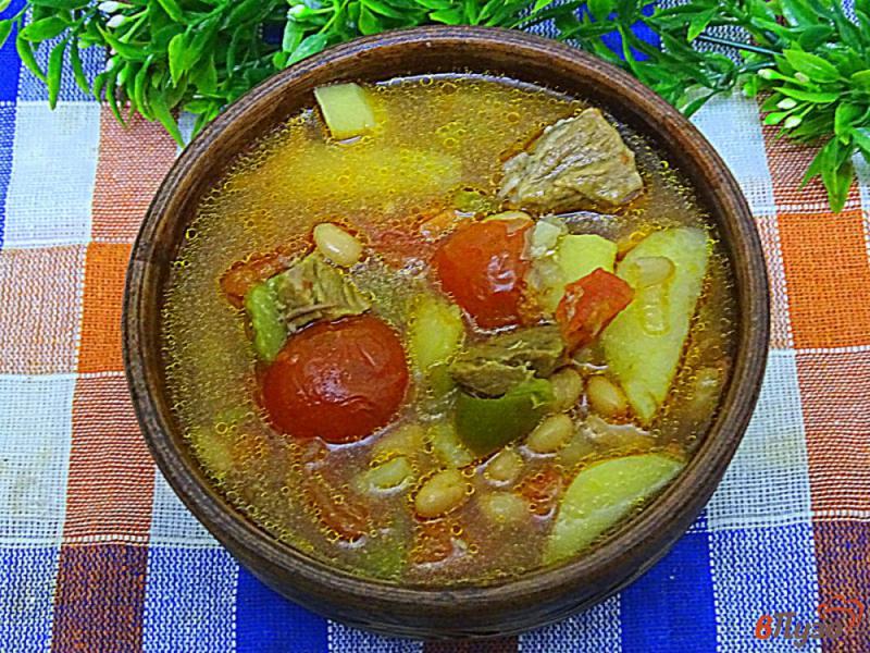 Фото приготовление рецепта: Диетическая тушёная говядина с овощами шаг №12