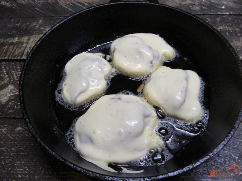 Фото приготовление рецепта: Ленивые пирожки с куриной печенью шаг №7