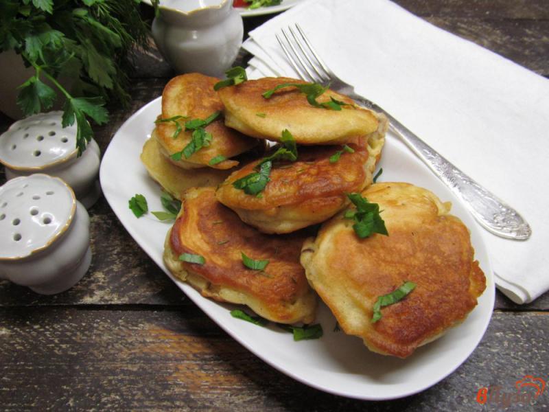 Фото приготовление рецепта: Ленивые пирожки с куриной печенью шаг №10
