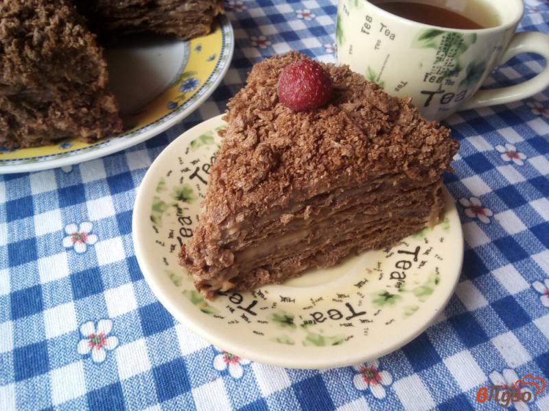 Фото приготовление рецепта: Шоколадный наполеон шаг №17