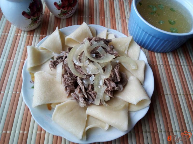 Фото приготовление рецепта: Бешбармак из баранины шаг №9