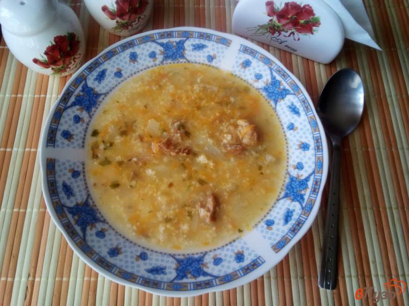 Фото приготовление рецепта: Суп с пшеном и тушенкой шаг №8