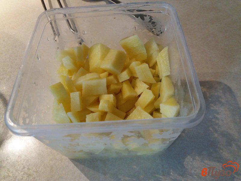 Фото приготовление рецепта: Щи из свежей капусты с томатно-чесночной заправкой шаг №4