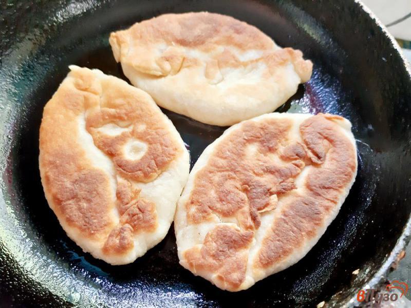 Фото приготовление рецепта: Пирожки на кислом молоке со сливами и яблоками шаг №10