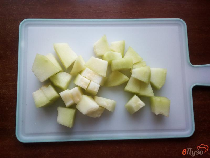 Фото приготовление рецепта: Консервированная дыня шаг №2