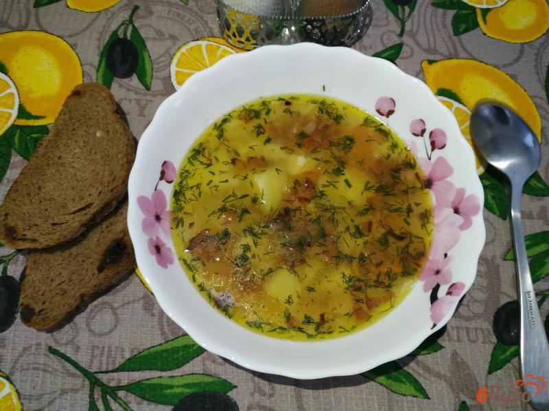 Фото приготовление рецепта: Полевой суп с пшеном шаг №11