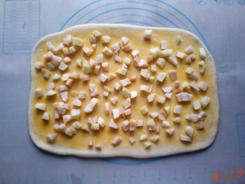 Фото приготовление рецепта: Пончики с яблоками шаг №6
