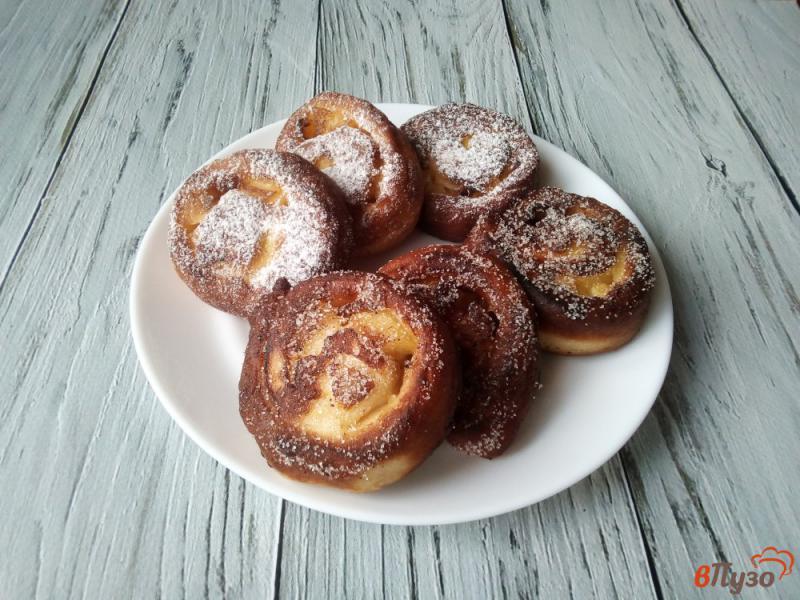 Фото приготовление рецепта: Пончики с яблоками шаг №9