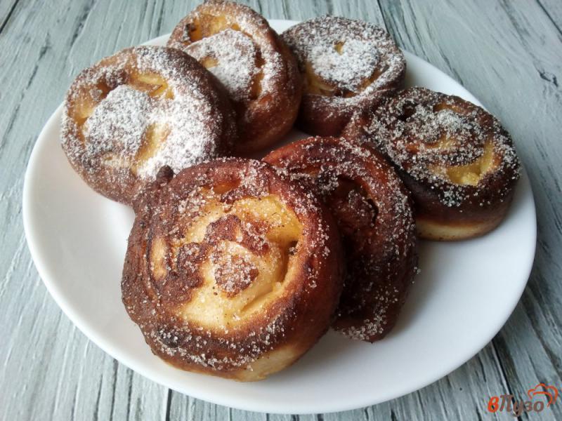 Фото приготовление рецепта: Пончики с яблоками шаг №10