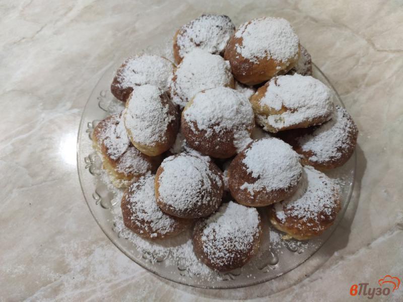 Фото приготовление рецепта: Творожные пончики в духовке шаг №7