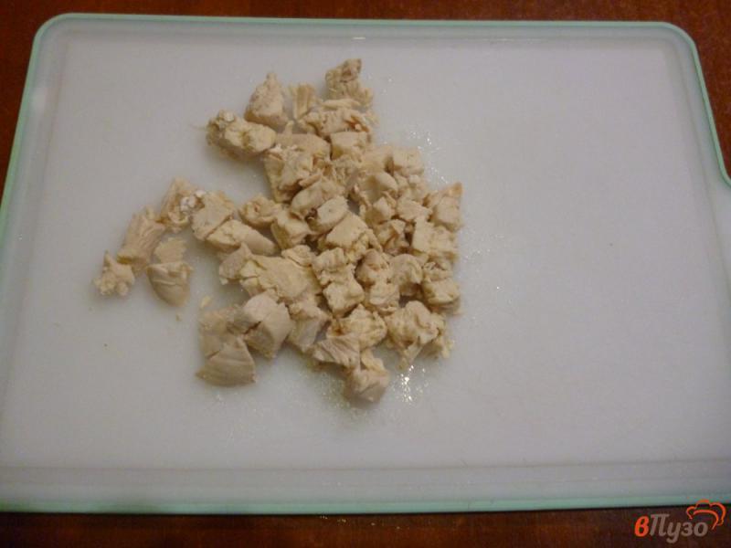 Фото приготовление рецепта: Овощной салат со сметанной заправкой шаг №3