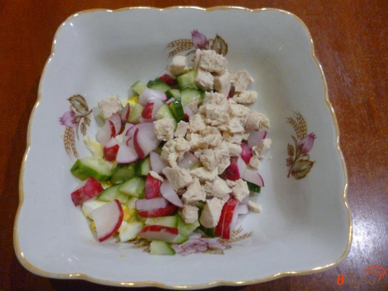 Фото приготовление рецепта: Овощной салат со сметанной заправкой шаг №4