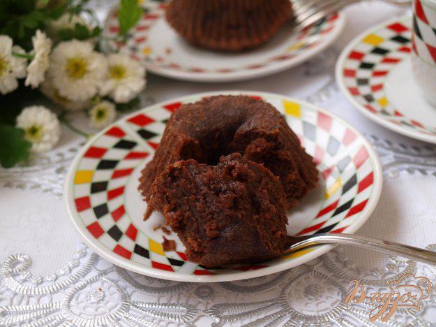 фото рецепта: Шоколадное пирожное за 15 минут