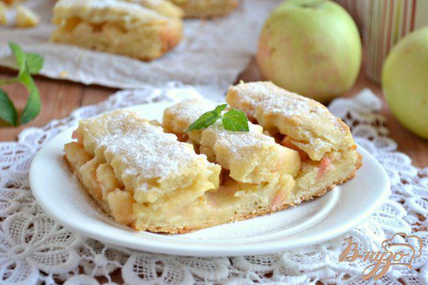Яблочный пирог на творожном тесте - рецепт пошаговый с фото