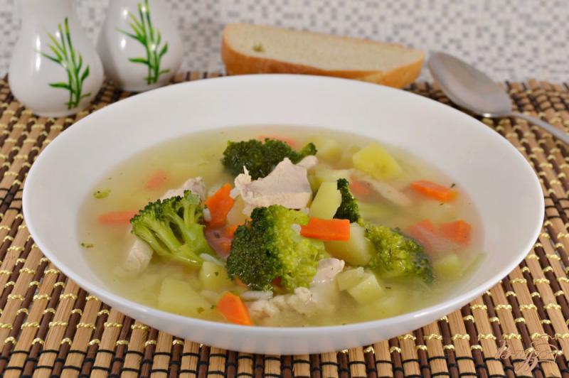 Суп с брокколи и рисом диета 5