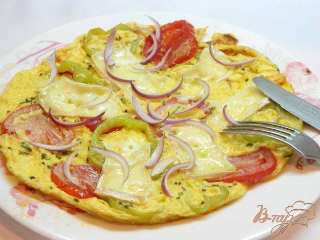 Омлет крабовые палочки помидор сыр — pic 1