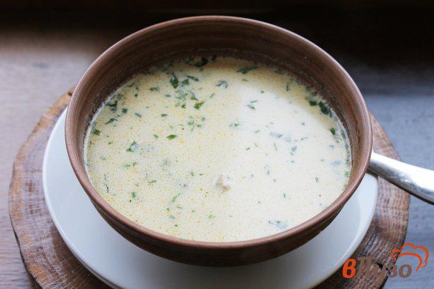 фото рецепта: Сливочный суп с сыром, грибами и курицей