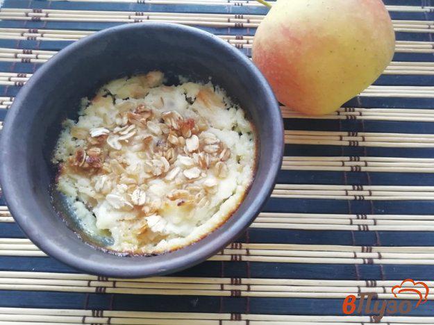 Крамбл с творогом и яблоками