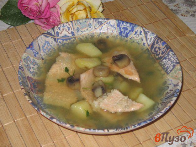 суп из обрезков лосося
