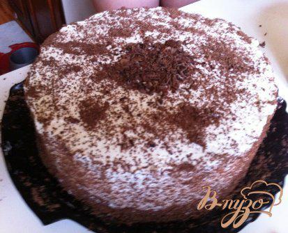 Фото приготовление рецепта: Шварцвальдский вишневый торт («Черный лес») шаг №16