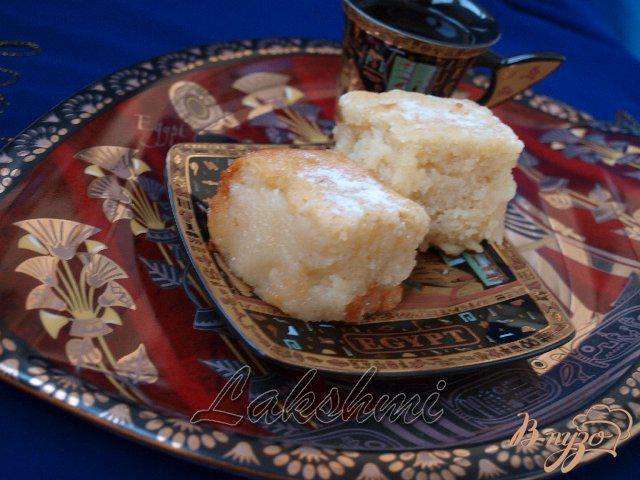 Фото приготовление рецепта: Басбуса - арабская сладость шаг №5