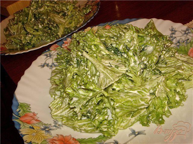 Фото приготовление рецепта: Воздушный салат с креветками шаг №3