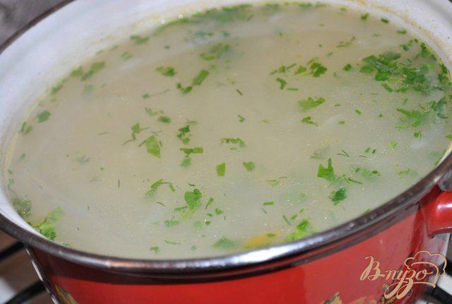 Фото приготовление рецепта: Куриный суп с овсяными хлопьями шаг №4