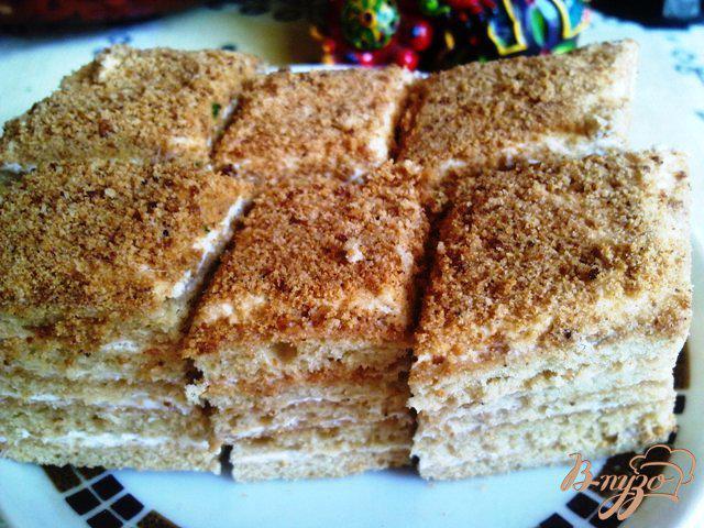 Фото приготовление рецепта: Пирожные «Медовые» шаг №10
