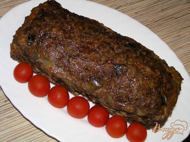 Фото приготовление рецепта: Мясной хлеб с грибами шаг №13