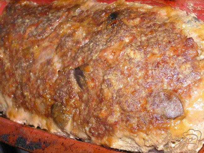 Фото приготовление рецепта: Мясной хлеб с грибами шаг №12