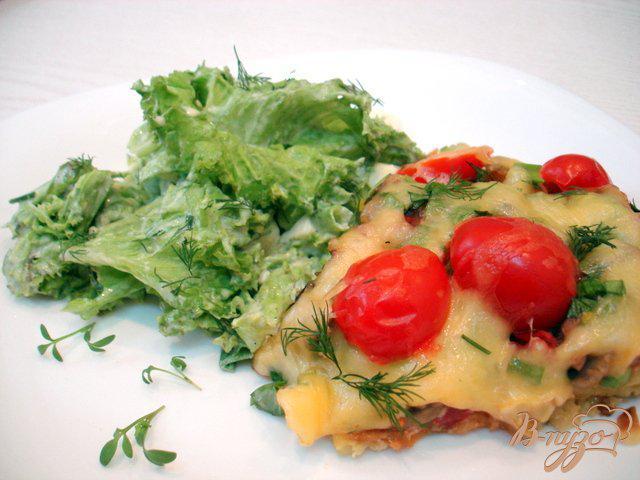 Фото приготовление рецепта: Картофельная *пицца* шаг №10