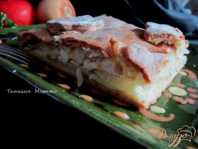 Фото приготовление рецепта: Пирог «Курник» шаг №9
