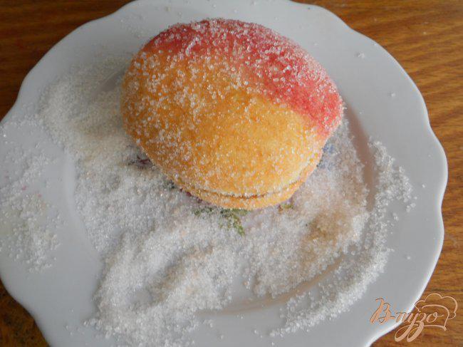 Фото приготовление рецепта: Печенье-пирожное «Персики» шаг №8
