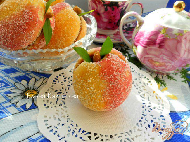 Фото приготовление рецепта: Печенье-пирожное «Персики» шаг №9