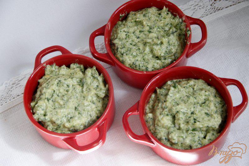 Фото приготовление рецепта: Суфле из картофеля и шпината шаг №8