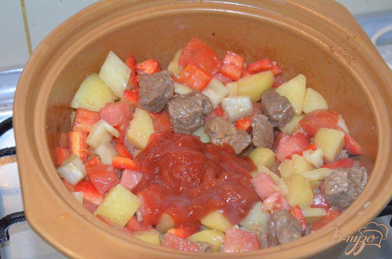 Фото приготовление рецепта: Венгерский суп-гуляш шаг №5