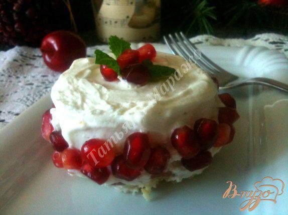 Фото приготовление рецепта: Бисквитные пирожные шаг №8
