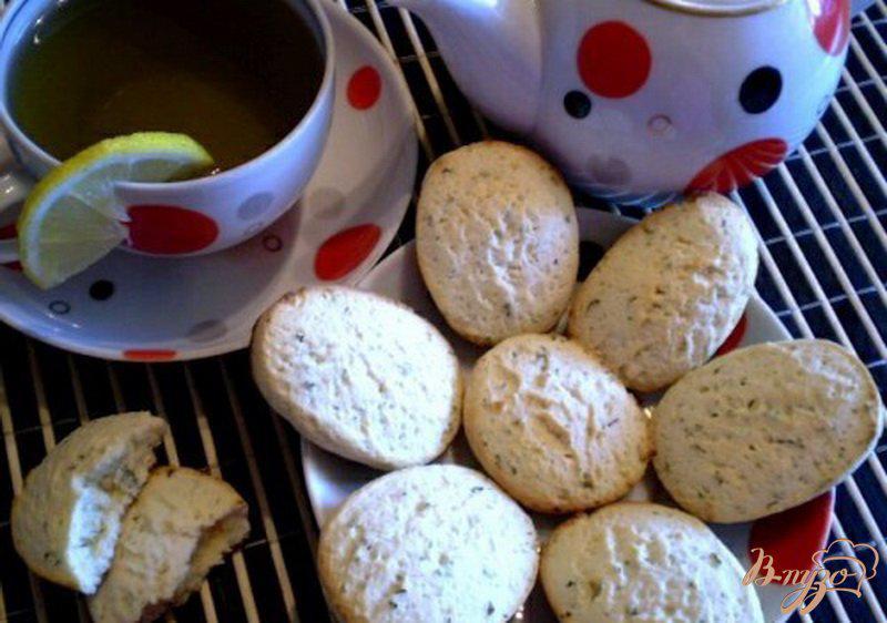 Фото приготовление рецепта: Мятно-лимонное печенье шаг №6