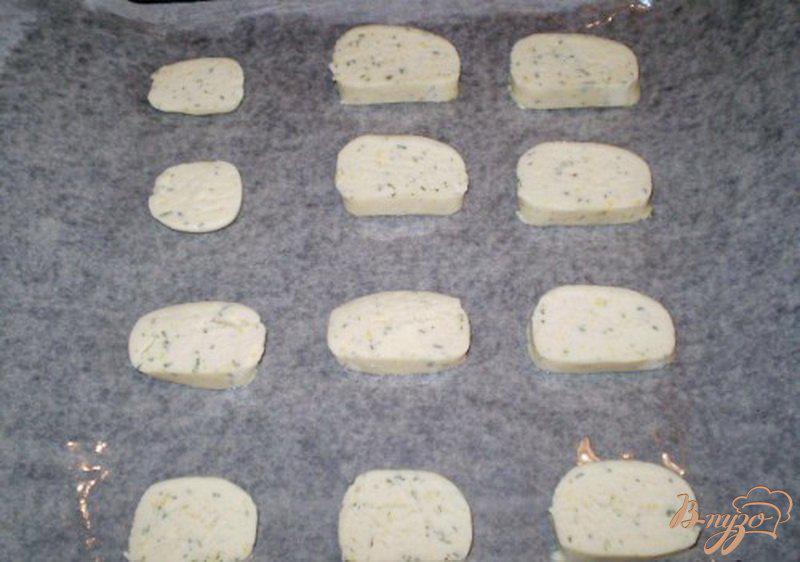 Фото приготовление рецепта: Мятно-лимонное печенье шаг №5