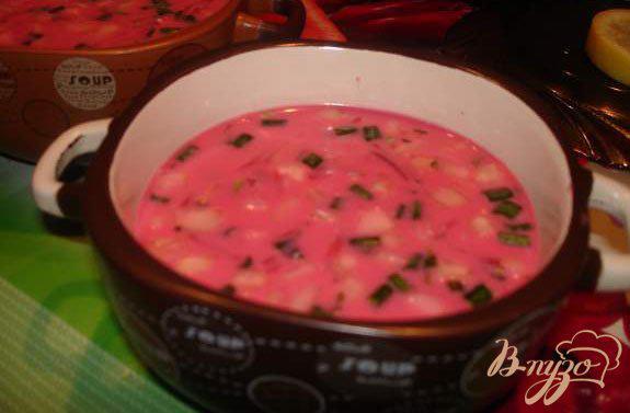 Фото приготовление рецепта: Литовский холодный борщ или Свекольник шаг №6