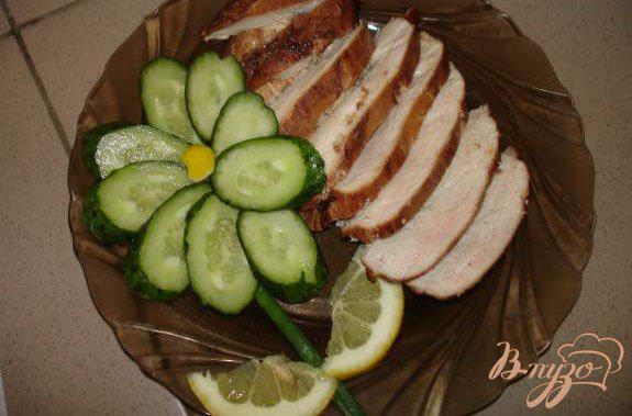Фото приготовление рецепта: Куриная грудка, копченая в домашних условиях шаг №6