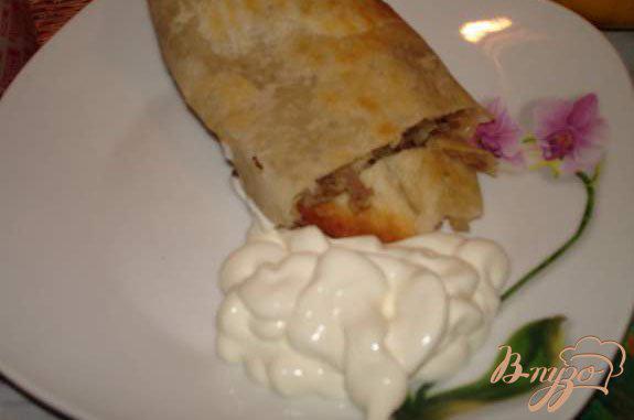 Фото приготовление рецепта: Лахмаджун - Турецкая пицца шаг №6