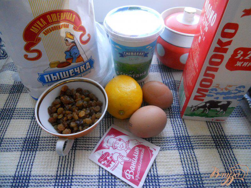 Фото приготовление рецепта: Пирог с изюмом в мультиварке шаг №1