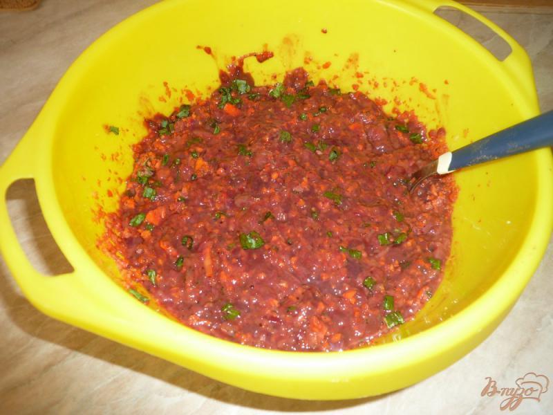 Фото приготовление рецепта: Запеканка из печени с рисом шаг №4