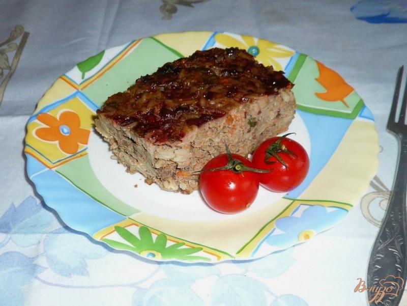 Фото приготовление рецепта: Запеканка из печени с рисом шаг №10