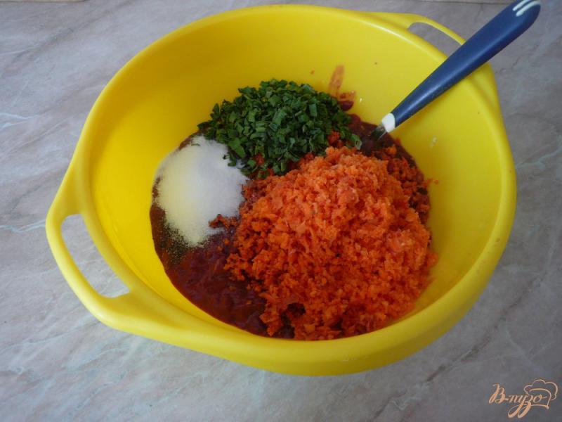 Фото приготовление рецепта: Запеканка из печени с рисом шаг №3