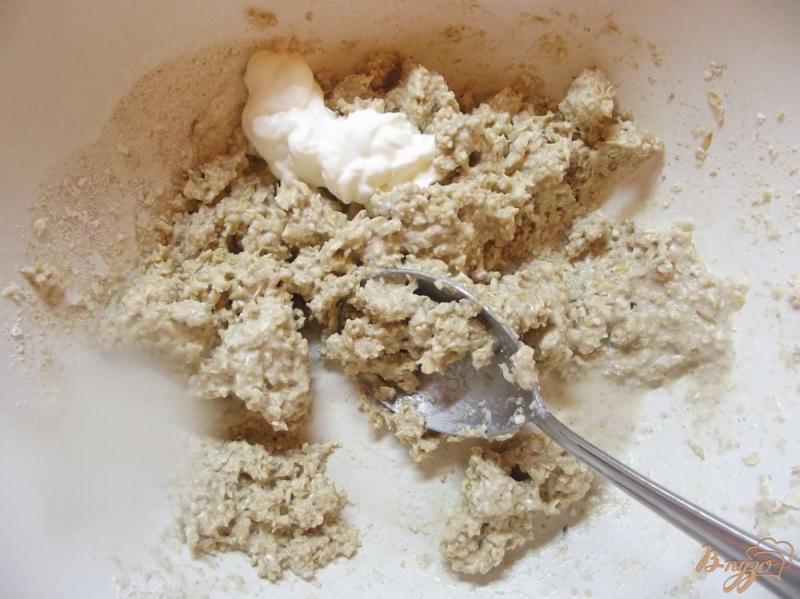 Фото приготовление рецепта: Булочки овсяные с клетчаткой шаг №7
