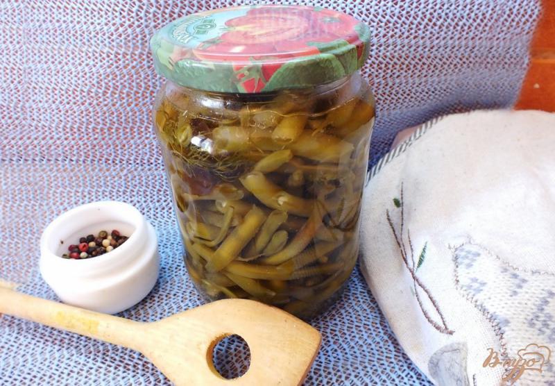 Фото приготовление рецепта: Консервированная спаржевая фасоль в кисло-сладком маринаде шаг №11