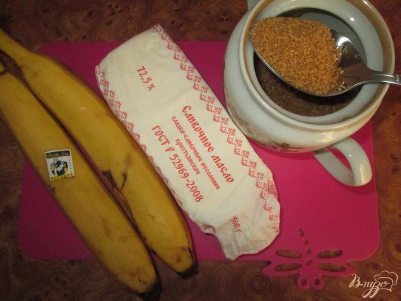 Фото приготовление рецепта: Бананы в карамели шаг №1